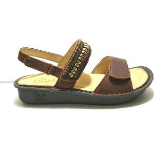 Alegria Leather Sandals Memory Foam Comfort Brown